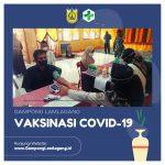 WARGA ANTUSIAS MENGIKUTI VAKSINASI COVID-19